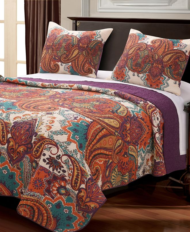 Greenland Home Fashions Nirvana Spice Quilt Set, 2-Piece Twin