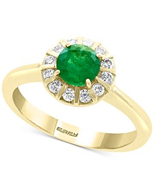 EFFY® Emerald (3/4 ct. t.w.) & Diamond (1/4 ct. t.w.) Ring in 14k Gold