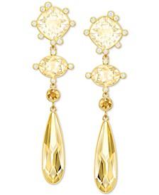Pavé & Colored Crystal Geometric Drop Earrings
