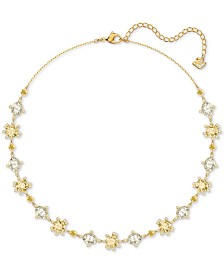 "Swarovski Crystal Collar Necklace, 14-4/5"" + 4"" extender"
