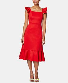 Betsey Johnson Ruffled Flounce Midi Dress