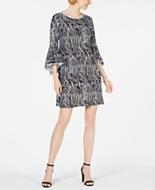 MSK Embellished Animal-Print Dress