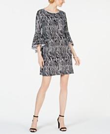 MSK Embellished Animal-Print Dress