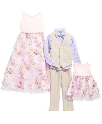 Toddler Boys 4-Pc. Plaid Oxford Set, Linen Vest, Pants & Bowtie Set