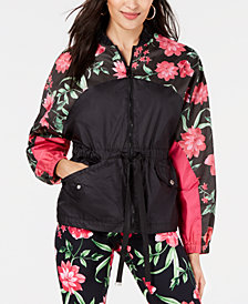 Juicy Couture Floral-Print Peplum Jacket