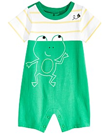 First Impressions Baby Boys Froggy Graphic Cotton Sunsuit, Created for Macy's
