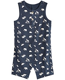 Baby Boys Safari-Print Cotton Sunsuit, Created for Macy's