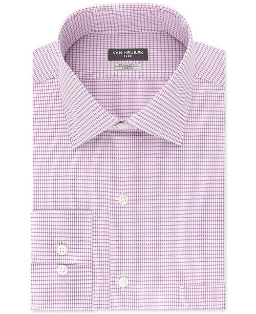Van Heusen Men's Classic/Regular Fit Stretch Flex Print Dress Shirt
