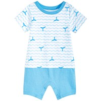 First Impressions Baby Boys Coastal Fun Cotton Sunsuit