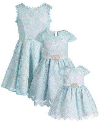 Little Girls Lace Fit & Flare Dress