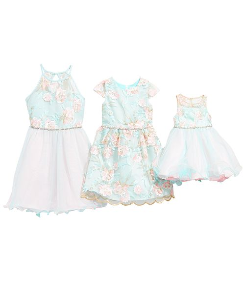 20ee938766b Rare Editions Sisters Floral Embroidered Dresses   Reviews - Sets ...