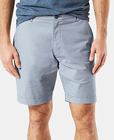 "Dockers Men's DuraFlex Lite Straight-Fit Stretch Moisture-Wicking 9"" Chino Shorts"