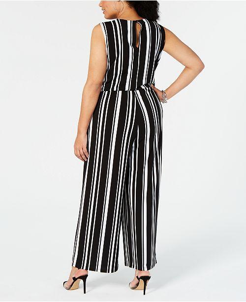 92ce12ee891c ... INC International Concepts I.N.C. Plus Size Sleeveless Striped Jumpsuit