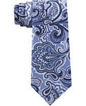 1e91cc4eec31 Michael Kors Men's Premium Light Paisley Slim Silk Tie