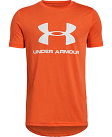 Under Armour Big Boys Sportstyle Logo-Print T-Shirt