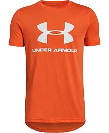 e17bc0f2 Under Armour Big Boys Sportstyle Logo-Print T-Shirt