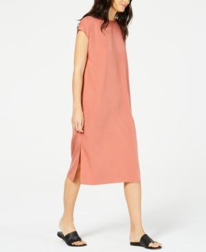 Eileen Fisher Dresses TENCEL SIDE-SLIT CAP-SLEEVE DRESS