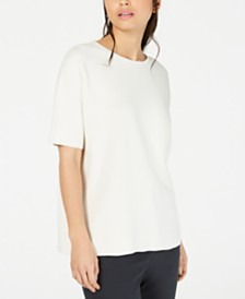 Eileen Fisher Textured Crewneck Top
