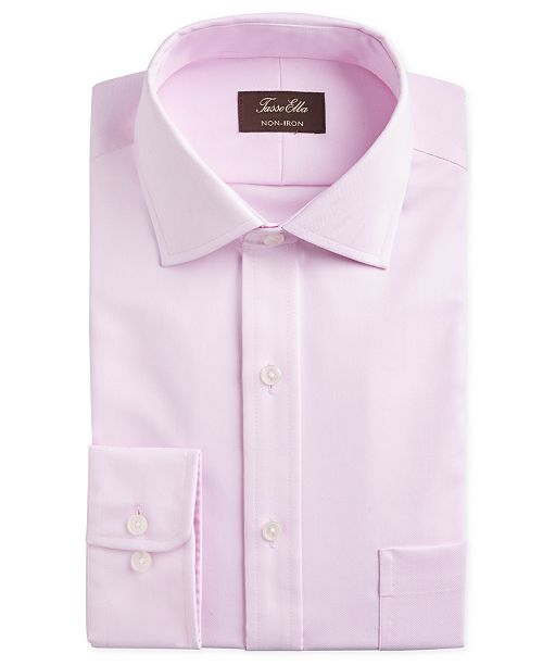 Tasso Elba Men's Slim-Fit Non-Iron Supima® Small Herringbone French Cuff Dress Shirt, Created for Macy's