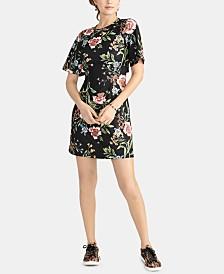 RACHEL Rachel Roy Janie Printed Peekaboo-Back Mini Dress, Created for Macy's