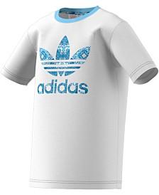 adidas Originals Big Girls Logo-Print Cotton T-Shirt