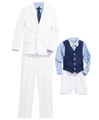 Toddler Boys 4-Pc. Oxford Shirt, Vest, Shorts & Bowtie Set