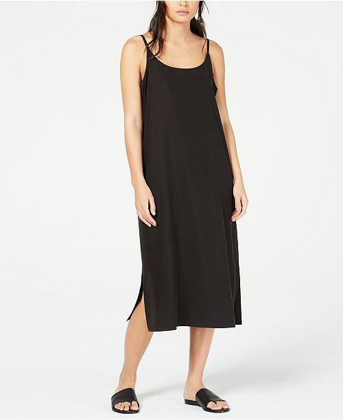 Eileen Fisher Tencel® and Recycled Polyester Slip Dress, Regular & Petite