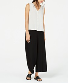 Eileen Fisher Top and High-Waisted Crepe Pants