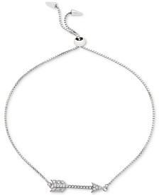 Giani Bernini Cubic Zirconia Arrow Bolo Bracelet in Sterling Silver, Created for Macy's