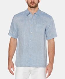 Cubavera Men's Pintucked Diamond Dobby Linen Shirt