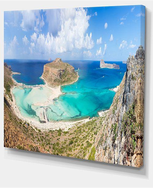 Designart Balos Beach At Crete Island Greece Oversized Beach Canvas Art 20 X 12