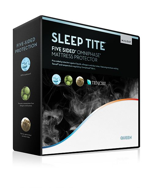 Malouf Sleep Tite 5-Sided Mattress Protector with Omniphase and Tencel - Full