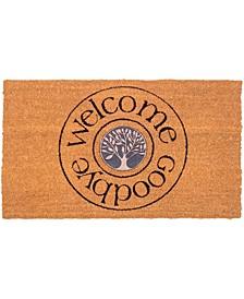 "Doormat Welcome And Goodbye 18"" x 30"", Non-Slip, Durable"