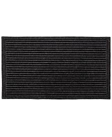 """Fab Habitat Doormat Textured Stripe 24"""" x 36"""", Shoe Scraper Doormat, Durable"""