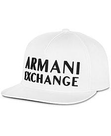 A|X Armani Exchange Men's 3D Rubber Logo Baseball Cap