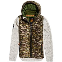 Deals on Superdry Mens Storm Wave Quilted Hooded Jacket