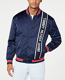 Tommy Hilfiger Denim Men's Motley Graphic Bomber Jacket, Created for Macy's