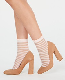 I.N.C. 2-Pk. Sheer Stripe Ankle Fashion Socks, Created for Macy's