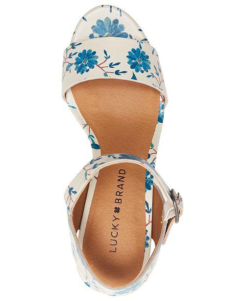 6d062da86d8 Lucky Brand Women s Trisa Wood Sandals   Reviews - Sandals   Flip ...