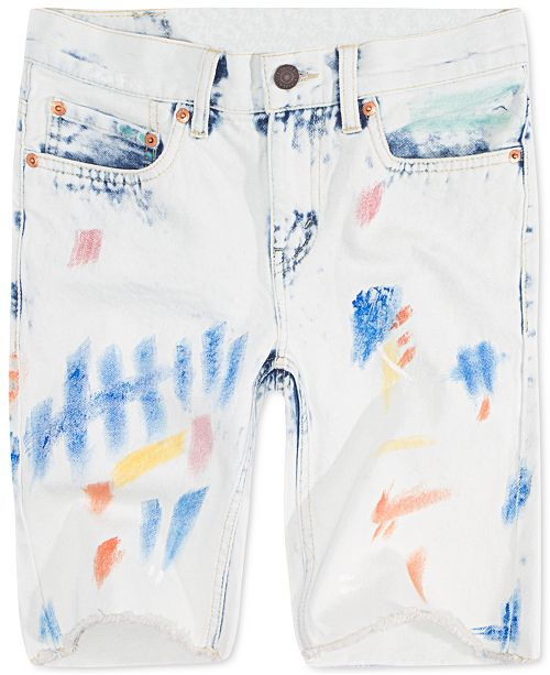 Levi's Little Boys 511 Distressed Slim Denim Shorts