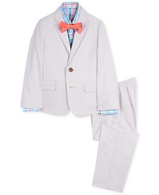 Nautica Little Boys 4-Pc. Oxford Gingham Suit Set