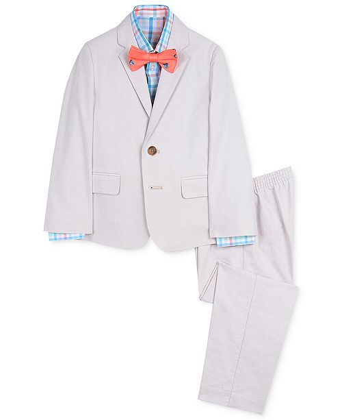 Nautica Toddler Boys 4-Pc. Oxford Gingham Suit Set