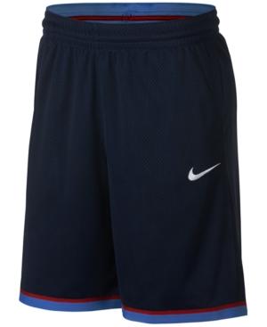 Nike Men's Dri-Fit Classic Basketball Shorts In Navy/Wht