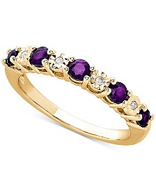 Amethyst (3/8 ct. t.w.) & Diamond Accent Ring in 14k Gold