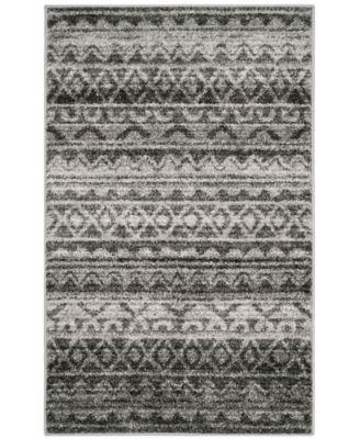 Adirondack Ivory and Charcoal 8' x 10' Area Rug
