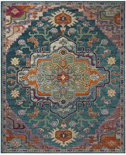 Safavieh Crystal Teal and Rose Area Rug Collection