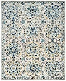 Evoke Ivory and Blue 11' x 15' Area Rug