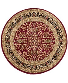 Lyndhurst Red and Black 10' x 10' Round Area Rug