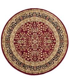Safavieh Lyndhurst Red and Black 10' x 10' Round Area Rug