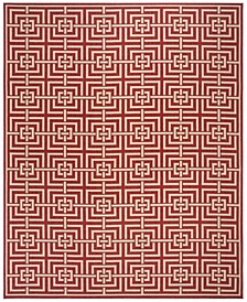Linden Red and Creme 9' x 12' Area Rug